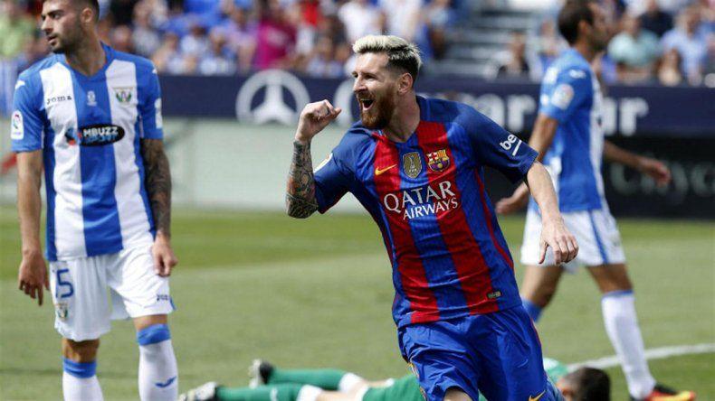 Con un doblete de Messi, el Barcelona goleó a Leganés