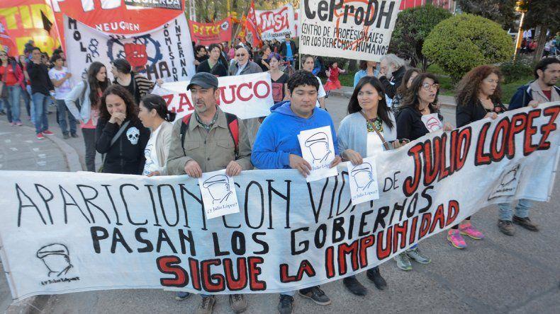 Miembros de organizaciones marcharon a 10 años de la desaparición.