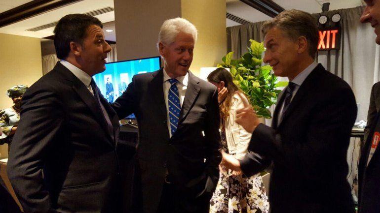 Macri se mostró con Clinton en el encuentro anual de su fundación