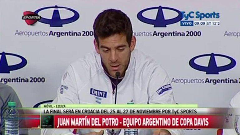 El equipo argentino de Copa Davis regresó al país
