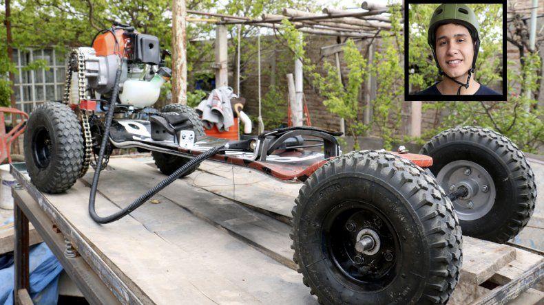 El joven inventó un vehículo todoterreno y lo expondrá en Neuquén Innova