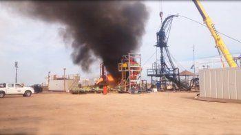 El fuego comenzó en una pileta petrolera, pero fue rápidamente sofocado por el personal.