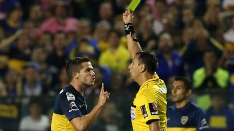 Herrera en uno de los partidos en los que dirigió a Boca.