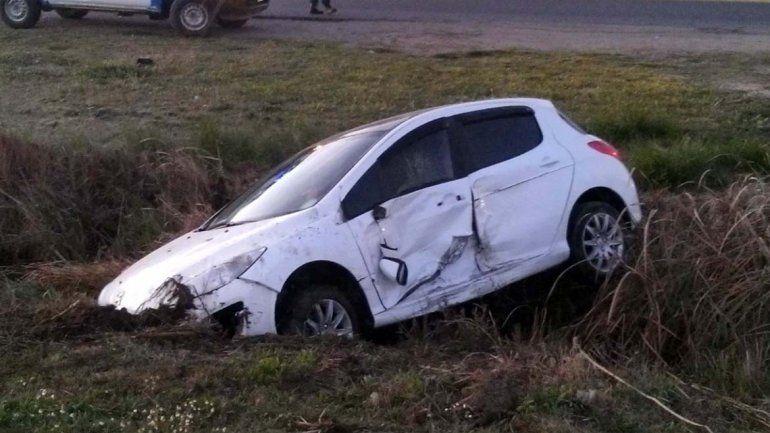Dos heridos tras un choque a la salida de Plottier
