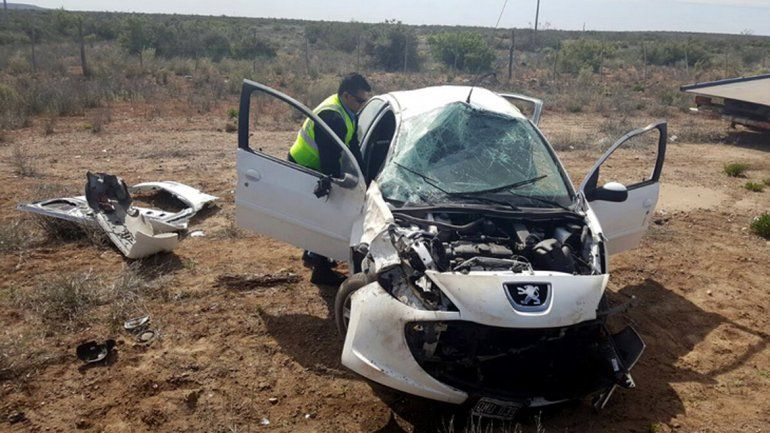 Accidente sobre la Ruta 22.