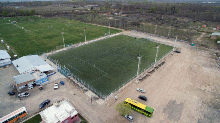 El predio de canchas de fútbol de La Amistad fue blanco de los ladrones.