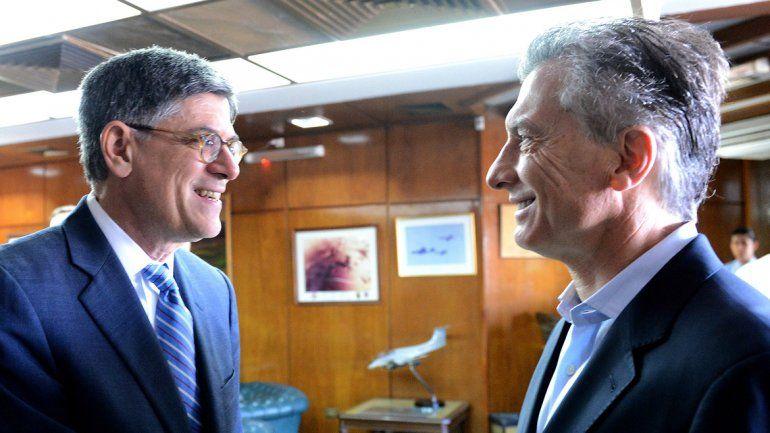 Macri junto al secretario del Tesoro de los Estados Unidos