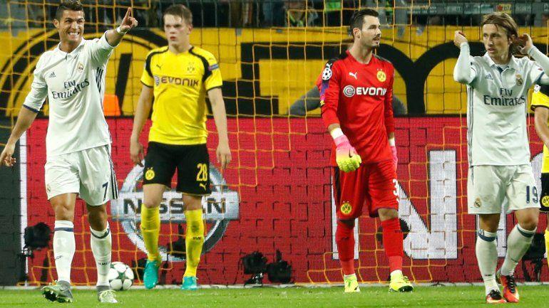 El Real Madrid empató con el Borussia Dortmund sobre el final