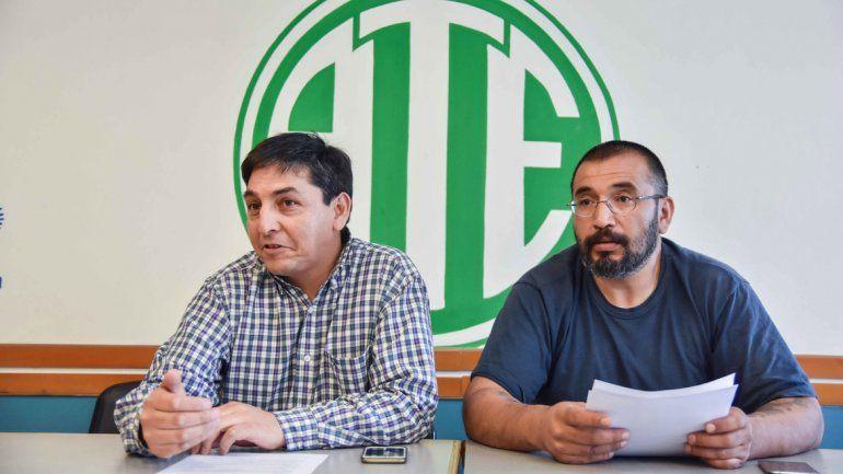 Quintriqueo (izquierda) consideró que con estos hechos UPCN está escondiendo la corrupción del Gobierno.