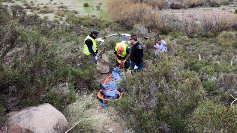 El cadáver de Namuncurá yace en el barranco y su Ford Fiesta