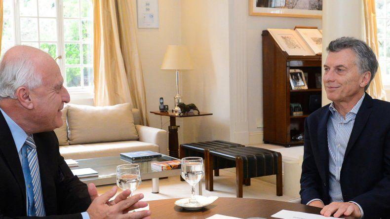 Macri y el gobernador santafesino