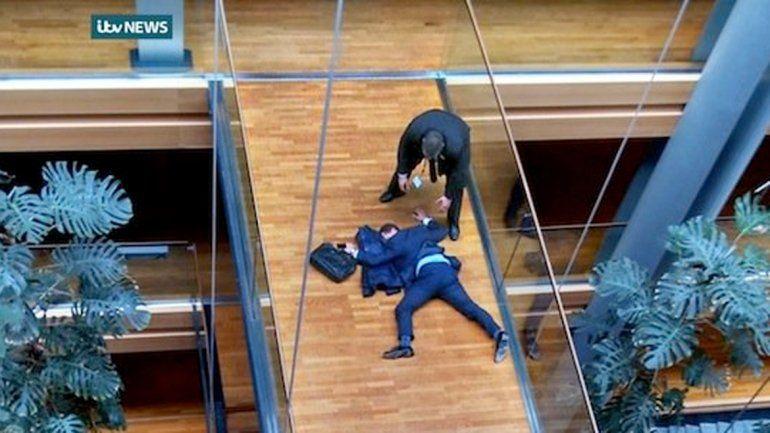 Diputados del Parlamento Europeo terminaron a las trompadas