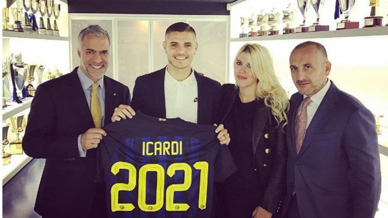 Wanda consiguió que Mauro Icardi sea el tercer jugador mejor pago del Inter: logró un contrato de 5.500.000 euros.