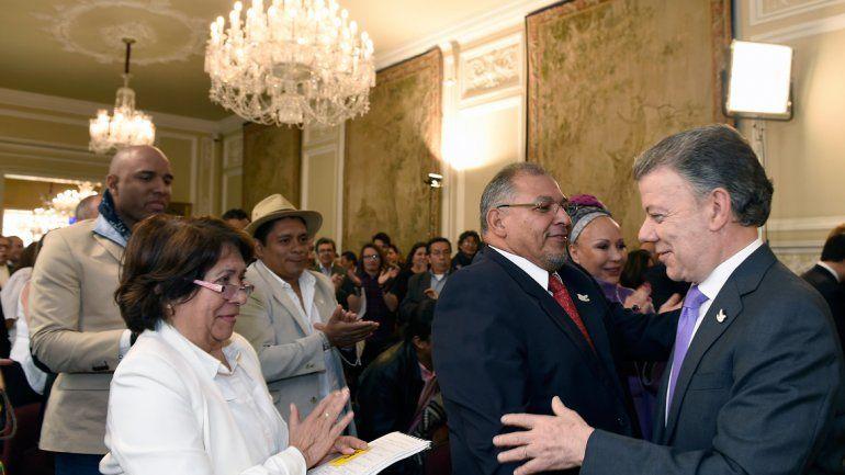 El colombiano les dedicó el premio a las víctimas del conflicto armado.