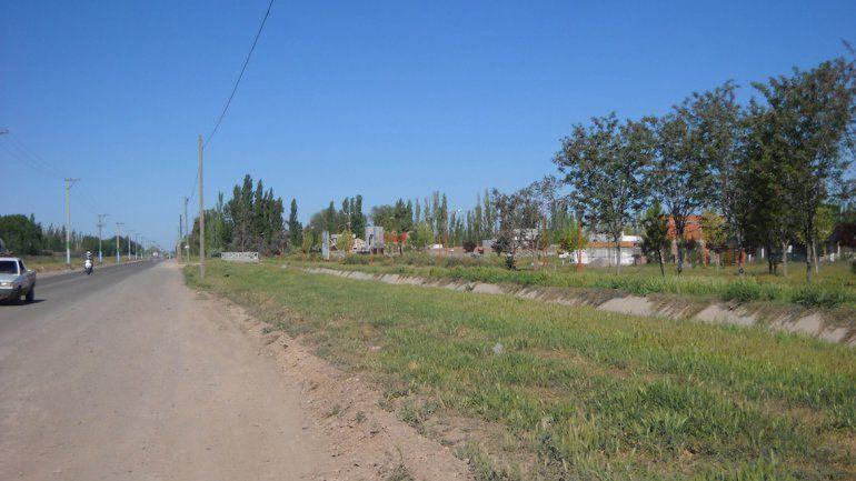 El barrio donde vive Holgado se ubica a la vera de la Ruta Chica.