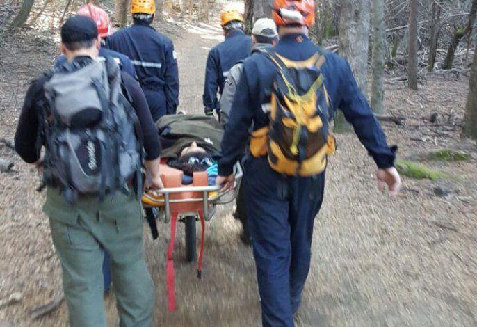 Rescataron a una turista accidentada en el bosque de Arrayanes