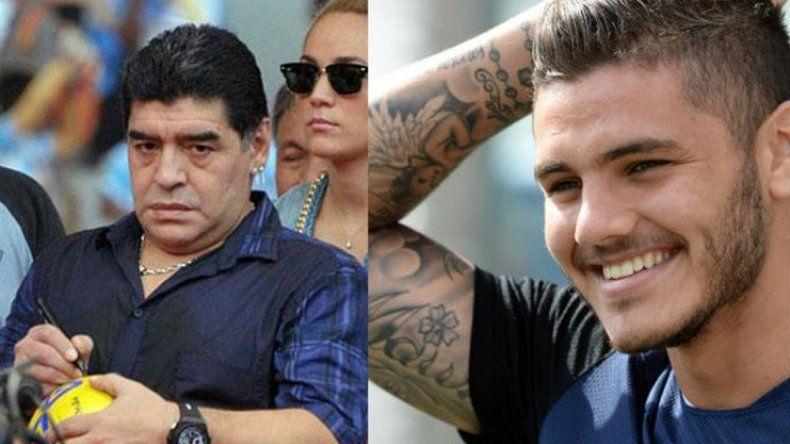 Maradona tildó a Icardi de traidor y el jugador del Inter le respondió