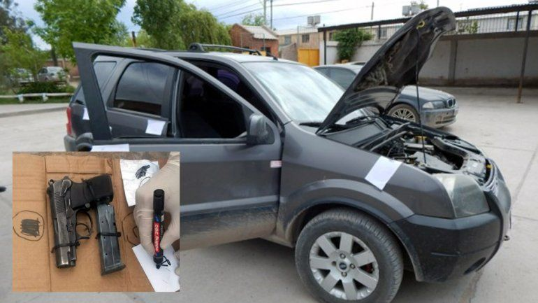 Secuestran camioneta y arma de un acusado de balear una casa