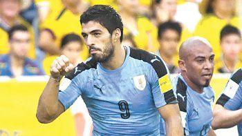 suarez se lesiono y no jugara ante argentina