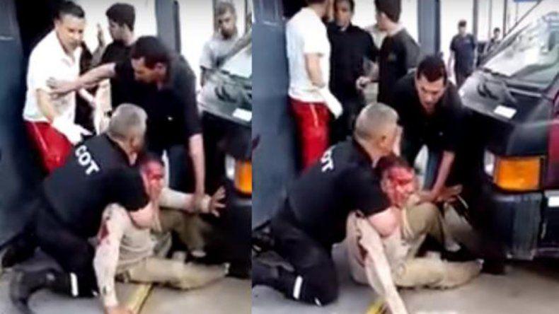 Hay cuatro detenidos y un agente herido por la terrible pelea.