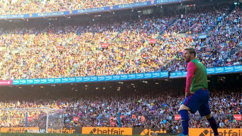 Volvió Messi: arrancó desde el banco ante Deportivo La Coruña