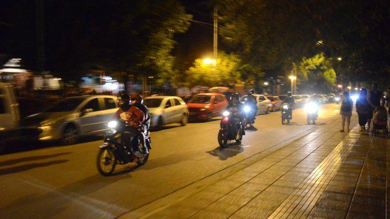 La constante circulación de motos es una de las preocupaciones.