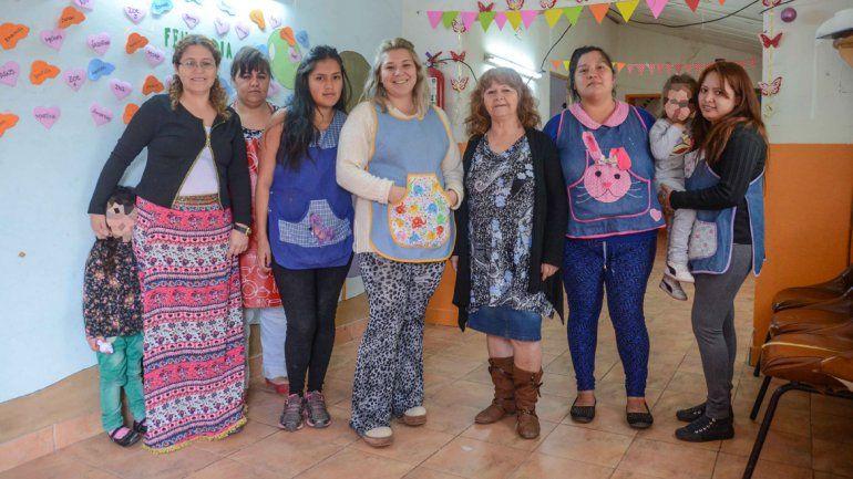 Las mamás del corazón de San Lorenzo Norte. Sienten amor por trabajar para quienes las necesitan.
