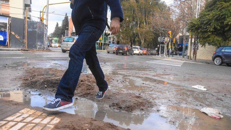 Ríos de agua por las calles