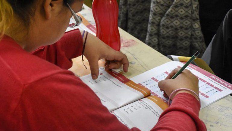 La evaluación Aprender se realizó en un 67% de las escuelas