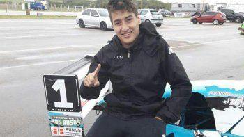 El campeón más joven (15) de la Fórmula Renault Pampeana Neuquina.