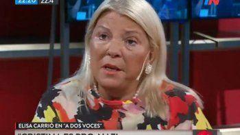 elisa carrio: massa es el trump de argentina y cristina es pro-nazi