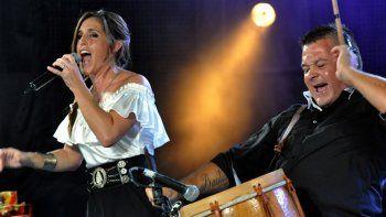 gran festejo. La cantante viene de presentarse en un colmado estadio Luna Park.