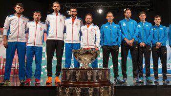 Los protagonistas en la final de la Copa Davis, que se jugará en el Zagred Arena, con 20 mil hinchas.