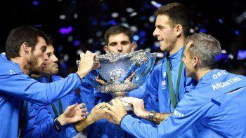 messi felicito el equipo argentino por el titulo de la copa davis