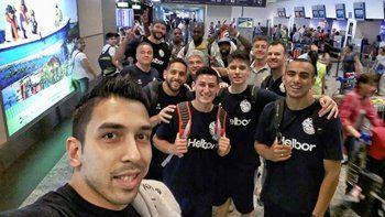 Los jugadores del Verde se tomaron una última foto antes de partir hacia Colombia.