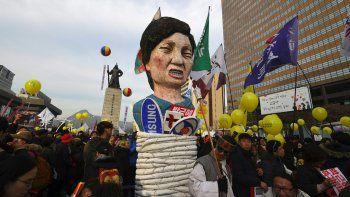 Otra fuerte manifestación contra la presidenta coreana.