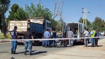 La Policía de la Comarca intervino en el lugar tras el fatal accidente.