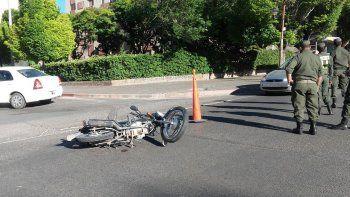 dos heridos en un accidente sobre la avenida argentina