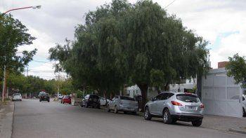El sector donde intervino personal de la Comisaría 32ª, sobre calle Perú.