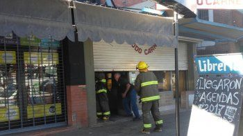 se incendio una carniceria sobre calle belgrano