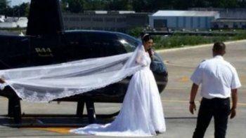 murio cuando iba en helicoptero a su boda para sorprender a su novio
