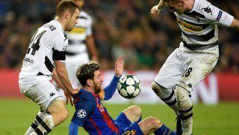 Con un gol de Messi, Barcelona venció al Mönchengladbach