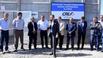 inauguraron una estacion de calf que abastecera a 3 mil viviendas