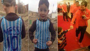 El niño afgano que conmovió al mundo conoció a Messi
