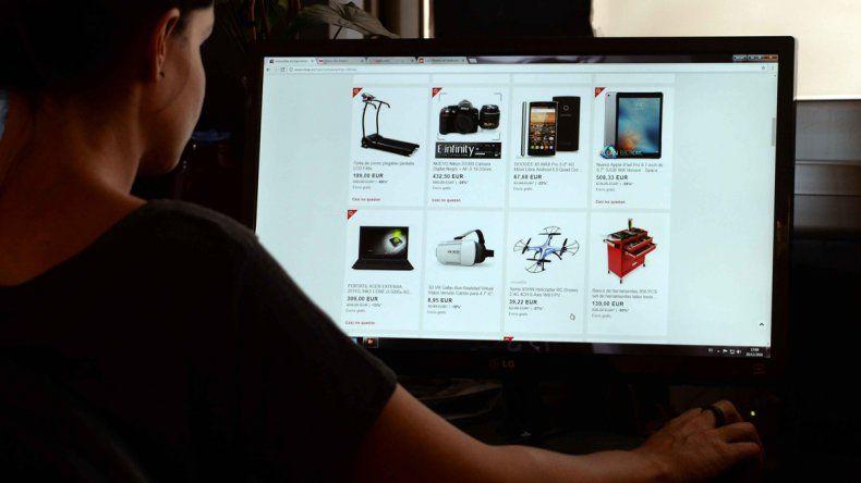 Las compras por internet demoran sólo un clic