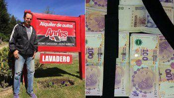 Un gesto que conmueve: empleado de un lavadero encontró 120 mil pesos y se los devolvió a su dueño