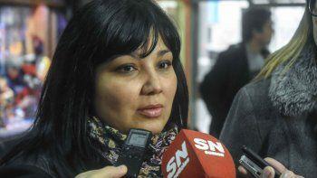 Pamela Gaita, presidenta de la Unión de Inquilinos Neuquinos.