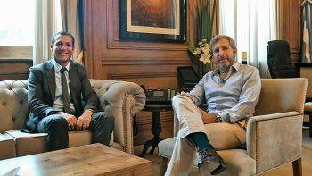 El gobernador Omar Gutiérrez y el ministro del Interior, Rogelio Frigerio, analizaron el traspaso de las cárceles.