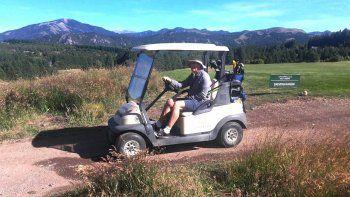 macri jugo al golf en san martin de los andes