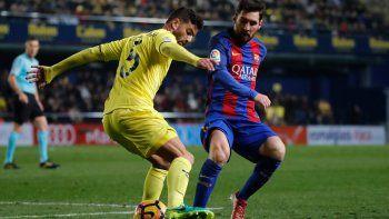 con un gol de messi sobre el final, barcelona empato con villareal